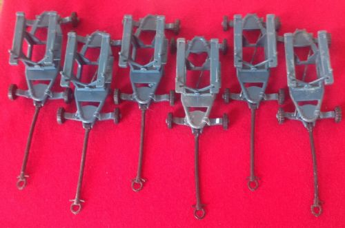 Corgi Toys #350 - Original - Set of 6 Thunderbird Guided Missile Trolly's